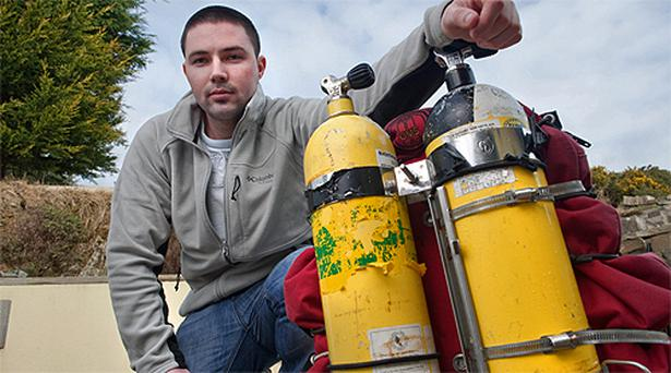 Scuba diver Ian Kelleher who, along with a group of local amateur divers, discovered a German U-boat in cork Harbour
