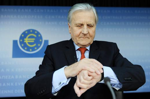 Jean-Claude Trichet said core inflation, currently running above expectations, was not a good gauge of future price pressures, but he said the ECB was ensuring higher energy prices did not seep into other prices. Photo: Getty Images