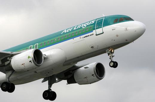 Aer Lingus fell 2.9pc to €1.01 as the airline continues to cancel flights due to industrial action. Photo: Getty Images