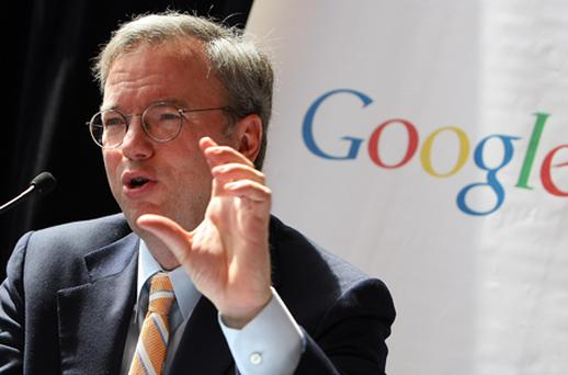 Eric Schmidt is preparing to sell $326m-worth of shares in Google. Photo: Getty Images