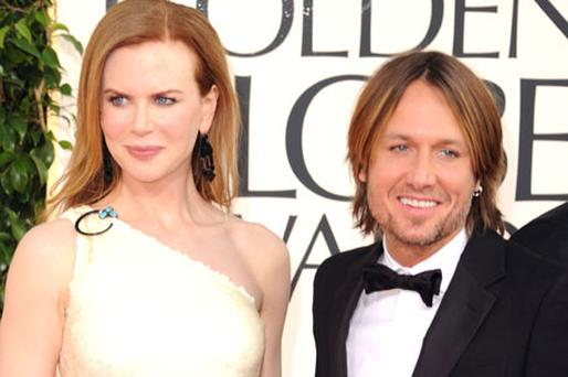 Nicole Kidman with husband Keith Urban. Photo Getty Images