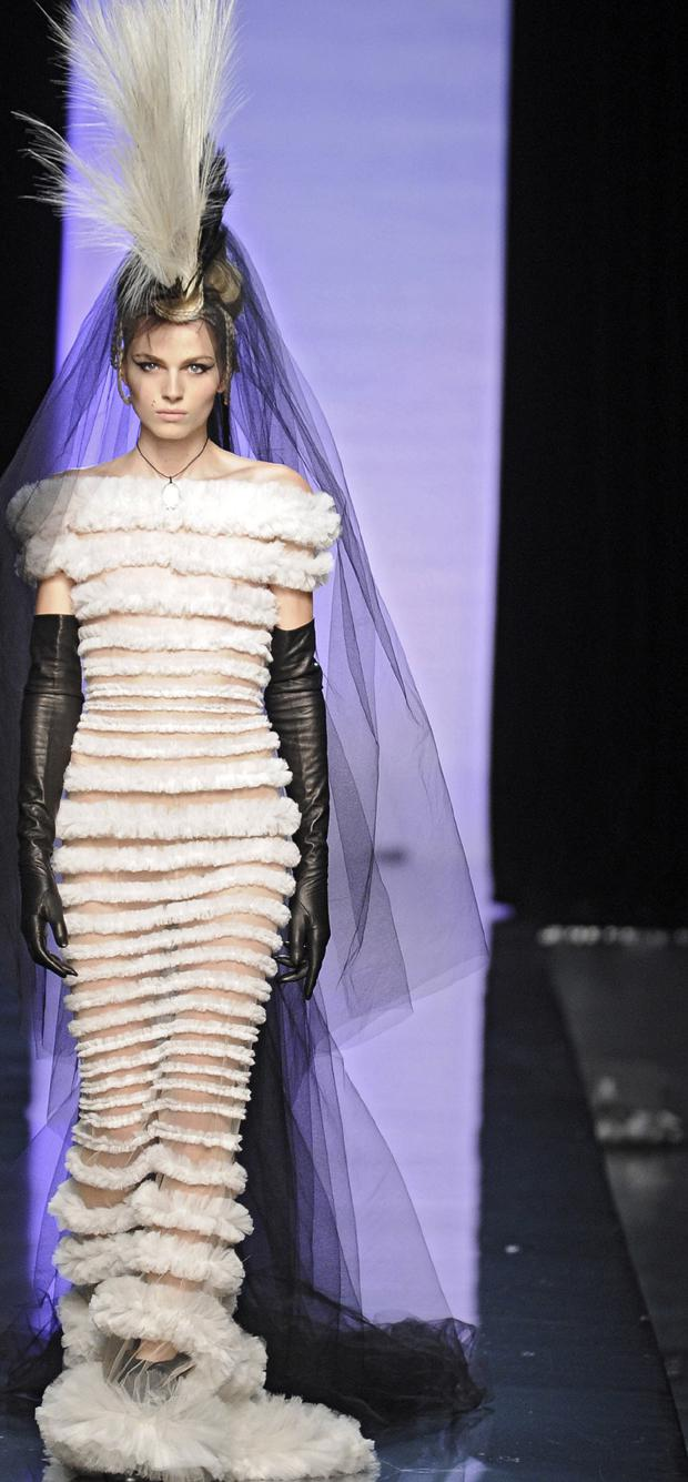Andrej Pejic as the bride in Jean Paul Gaultier's spring/summer 2011 haute couture show. Photo: Getty Images
