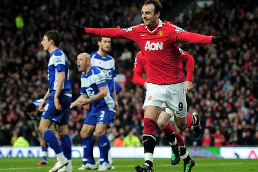 Dimitar Berbatov is finally repaying the faith shown in him by Alex Ferguson. Photo: Getty Images