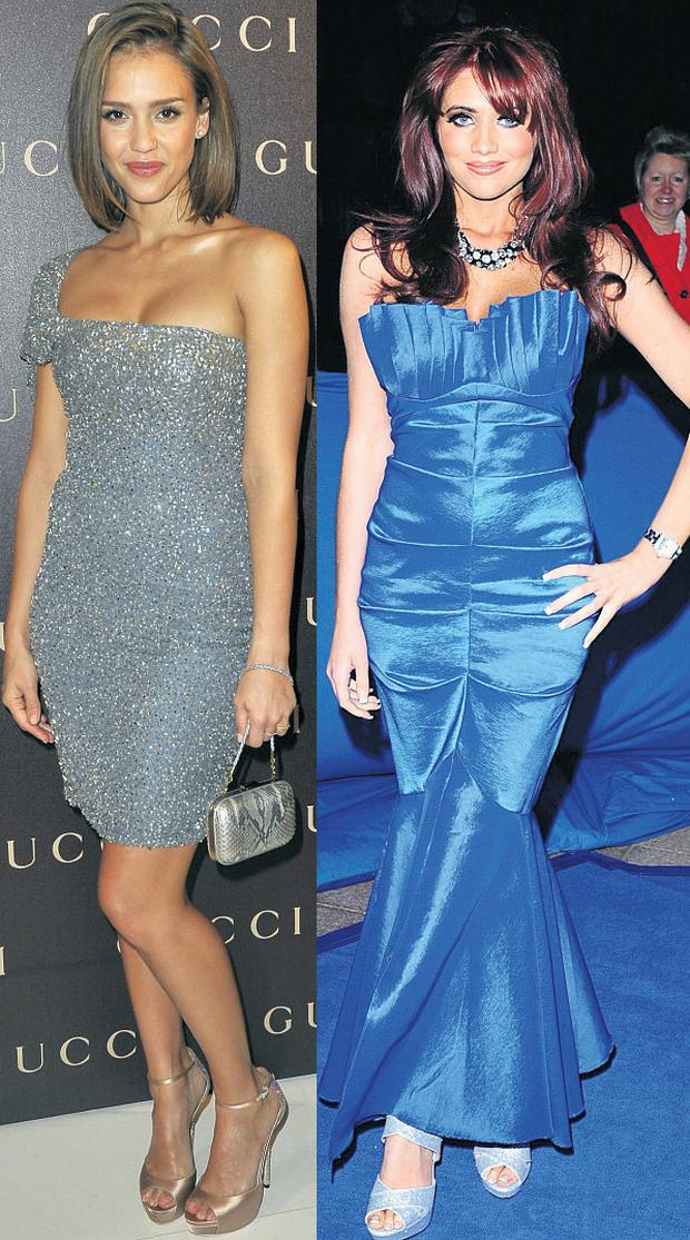 From left Jessica Alba and Amy Childs