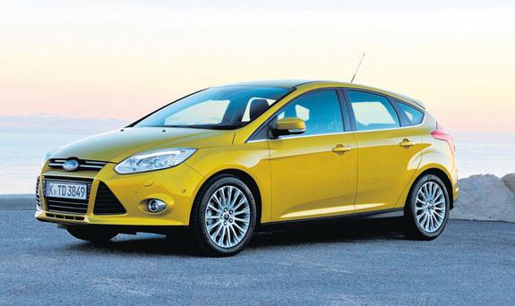 LOOKING FORWARD: The striking front end and sleek profile give the Focus a sportier image