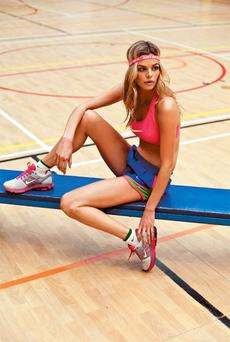 Bra, €21; shorts, €20; trainers, €100; headband (comes with a large duffel bag), €37; socks, €12, all Nike