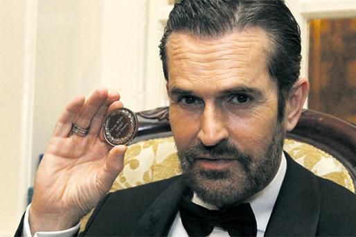 Rupert Everett launches the first ever Oscar Wilde Festival at the Graduates Memorial Building in Trinity College Dublin
