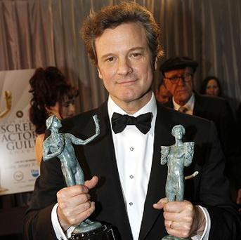 Colin Firth with his Screen Actors Guild Awards