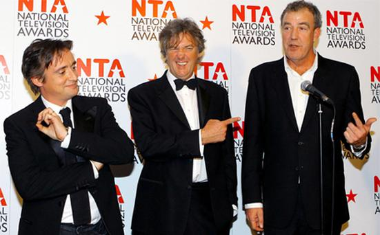 Top Gera presenters Richard Hammond, James May and Jeremy Clarkson. Photo: PA