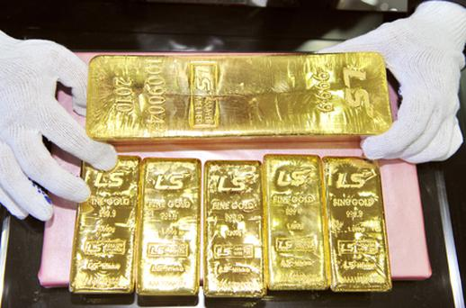 The vending machine sellsgold in the form of coins and ingots, with weights ranging from a gram to a quarter of an ounce. Photo: Getty Images