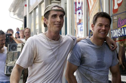Dick Eklund (Christian Bale) and Micky Ward (Mark Wahlberg) in 'The Fighter'