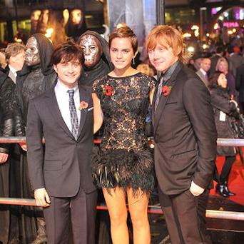The Harry Potter films, starring Daniel Radcliffe, Emma Watson and Rupert Grint, will be honoured by Bafta