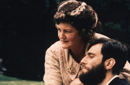 Brenda Fricker and Daniel Day-Lewis in a scene from the film 'My Left Foot'. Photo: PA