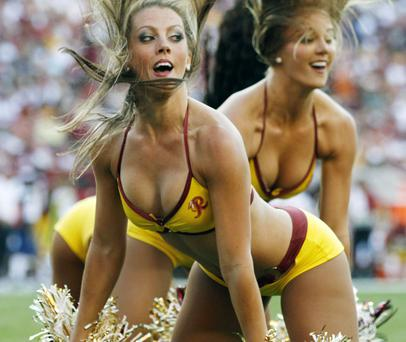 Washington Redskins cheerleaders perform during an NFL football game. Photo: Reuters