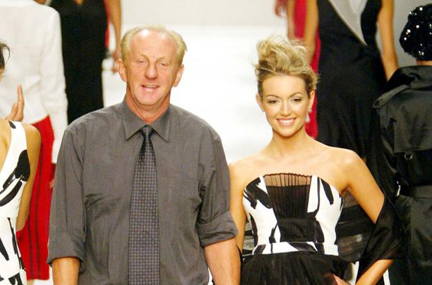 Paul Costelloe pictured with Rosanna Davison. Photo: Reuters