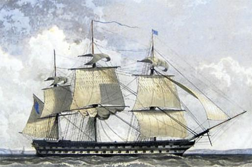 MARINER: HMS Rodney, the ship on which Royal Marine Thomas McSweeney sailed