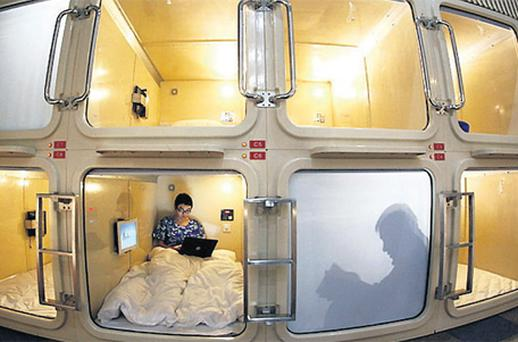 The Japanese are used to cramped living conditions in small houses, and even squeeze into 'capsule hotels' for overnite city stays. There is a special monthly street collection for disgarded household goods, often new, which is targeted by foreigners, 'gaijin'