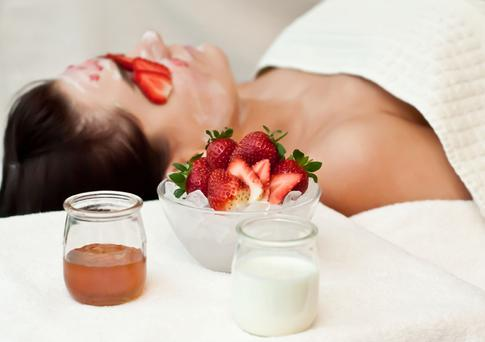 Strawberries and cream treatment at The Ritz-Carlton