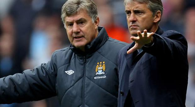 Roberto Mancini can call on the extensive experience of Brian Kidd at Man City. Photo: Getty Images