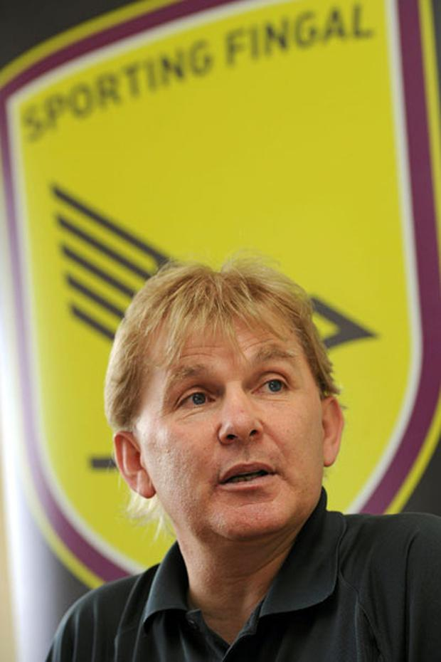 End of a dream: Sporting Fingal manager Liam Buckley.