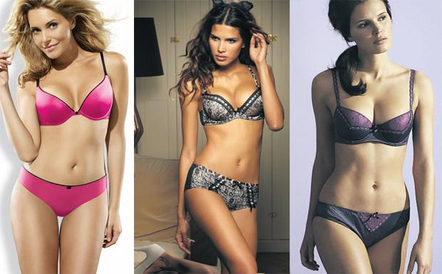 Hot pink gel button bra, €26, matching thong, €12, Wonderbra, available from good lingerie and department stores nationwide; Coco' bra, €33.11 matching briefs, €17.14, Ultimo, Debenhams and www.ultimo.co.uk; Ultimate milly bra, €12.75, thong €9.75. Ultimate is a Debenhams own brand and available in stores nationwide or online at debenhams.ie