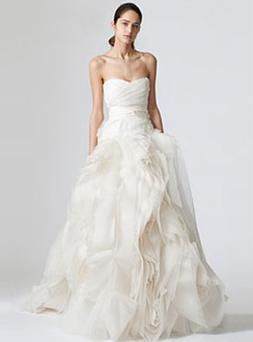 Vera Wang is famous for designing wedding dresses. This Vera Wang dress was inspired by Chelsea Clinton's dress