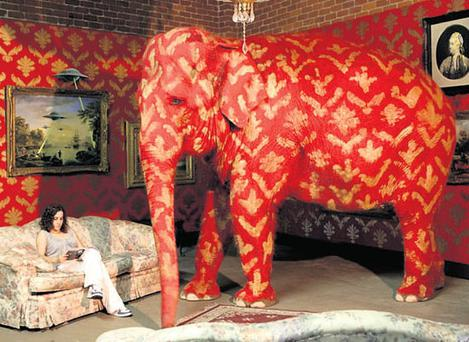 CORPORATION TAX: It's the elephant in the room, visualised by Banksy