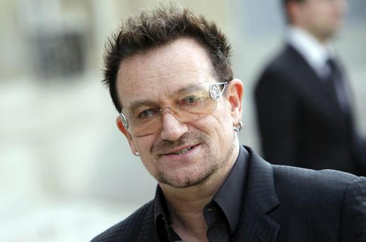 Bono: said he used to sing about the IRA when he was young. Photo: AP