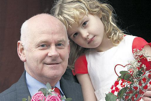 Councillor Jimmy Harte with his daughter Saidbh yesterday