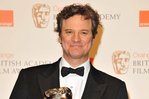 Colin Firth with his award. Photo: Getty Images