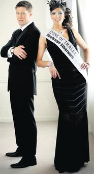 O'Gara with current Rose of Tralee Clare Kambamettu yesterday as it was revealed he will be a judge at this year's festival. PHOTOCALL