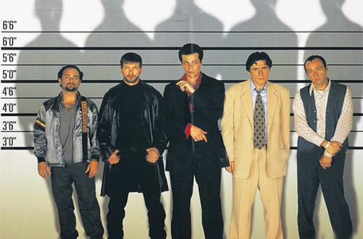 Kevin Spacey (far right) will be speaking at a special screening of the classic Bryan Singer filmThe Usual Suspects at this year's Jameson Dublin International Film Festival. A new app delivers the programme of events to your phone