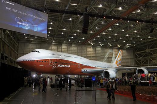 The new Boeing 747-8. Photo: Getty Images