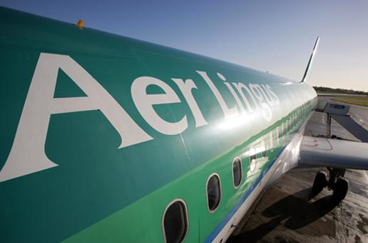 Aer Lingus added 0.77pc to reach €1.05 despite being cut to 'add' from 'buy' by Goodbody Stockbrokers while Ryanair rose 1.52pc to €3.69pc. Photo: Getty Images