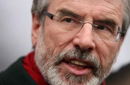Gerry Adams has always insisted he was never a member of the IRA. Photo: Getty Images