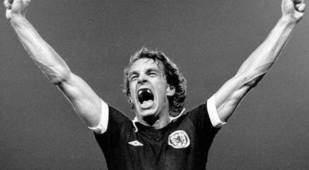 Joe Jordan the 60-year-old former Scottish international striker was a formidable figure during his playing days and has lost none of his passion for the game. Photo: PA