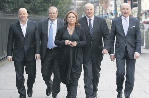 The Dragons, from left, Sean Gallagher, Gavin Duffy, Norah Casey, Bobby Kerr and Niall O'Farrell