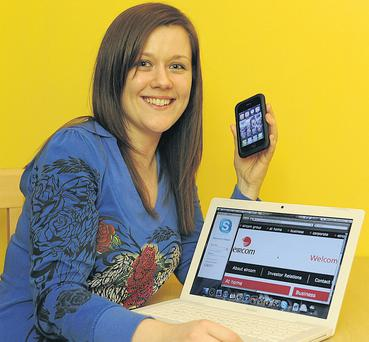Connected: Emma Louise Ryan left Eircom for a line-free broadband cable provider. Photo by Dave Meehan