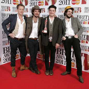 Mumford and Sons have seen album sales rocket after winning a Brit