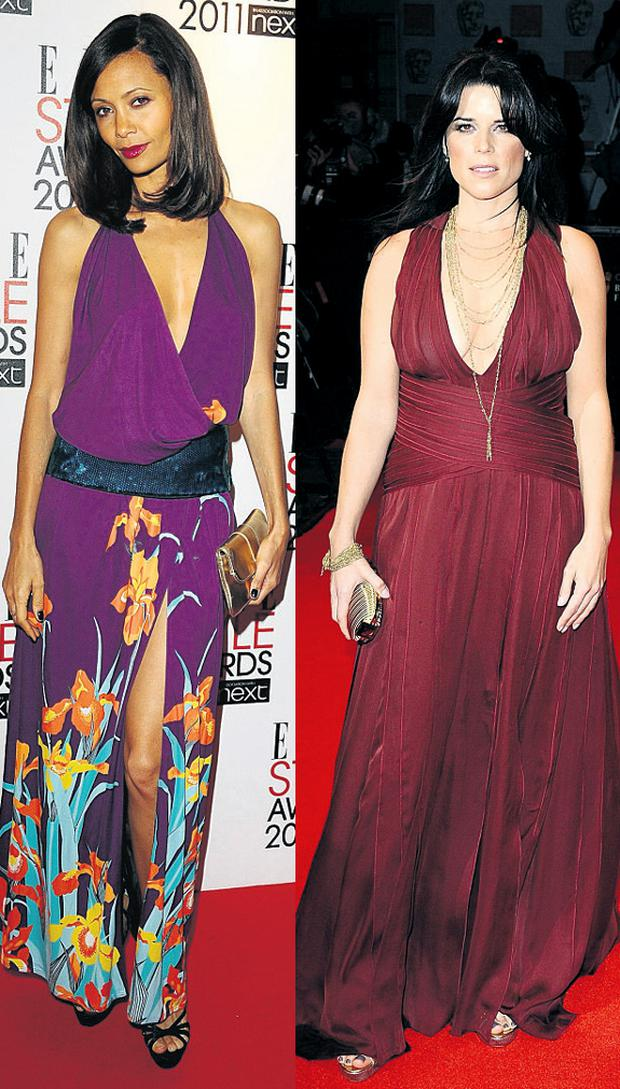 Thandie Newton and Neve Campbell