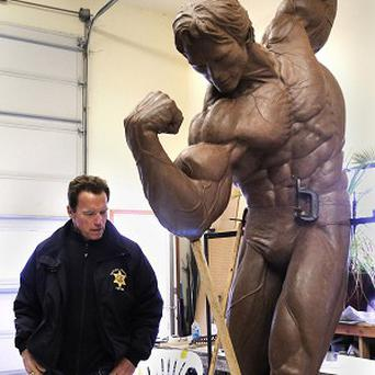 Arnold Schwarzenegger has approved a 9ft tall sculpture of him in his bodybuilding prime