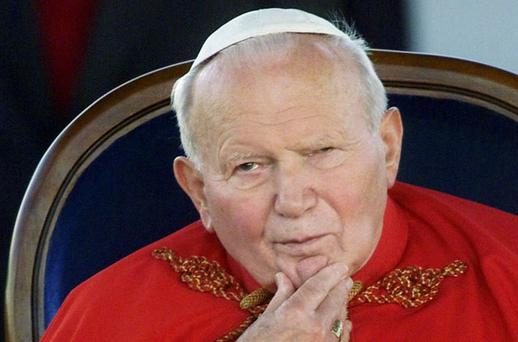 Pope John Paul II. Photo: AP