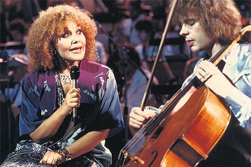 Cleo and the cello: a young Julian Lloyd Webber with singer Cleo Laine