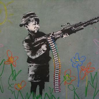 Some Banksy-style work has cropped up around Los Angeles