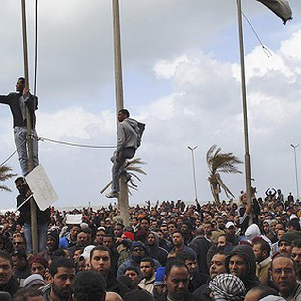 Protests in cities across Libya have attracted thousands of people