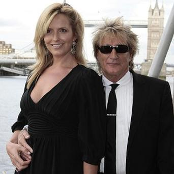 Rod Stewart and his wife Penny Lancaster have had a second baby boy