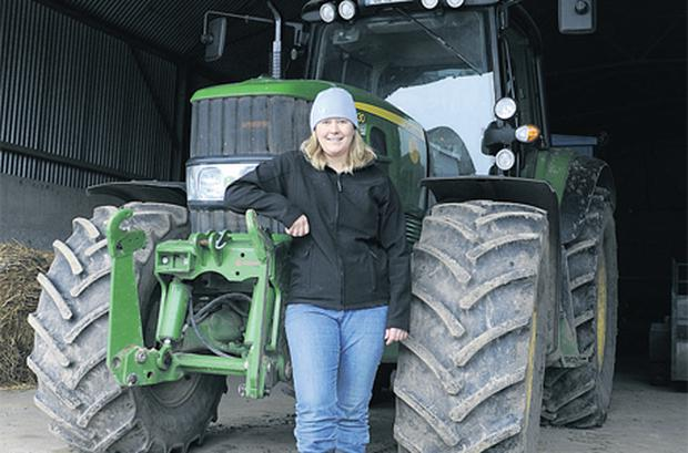 Grain farmer Helen Harris on her farm in Co Kildare