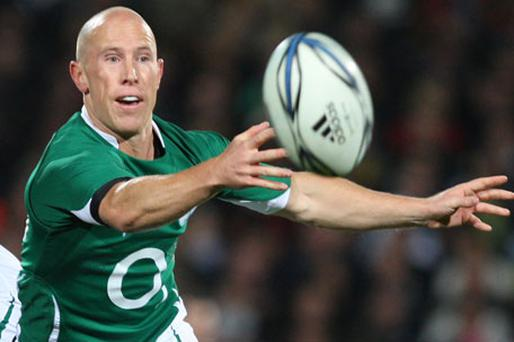 Scrum-half Peter Stringer. Photo: Getty Images