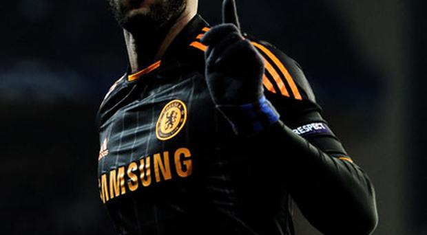 Nicolas Anelka scored both goals in Chelsea's 2-0 Champions League victory over FC Copenhagen. Photo: Getty Images