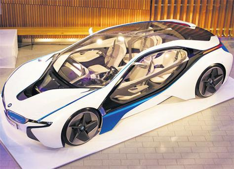 BMW unveiled the i8 at the Aviva Stadium in Dublin yesterday.